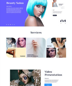 beauty salon website design theme