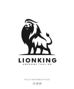 animal logo lion