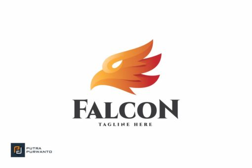 Animal falcon logo design